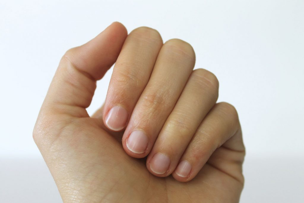 Natural no polish manicure