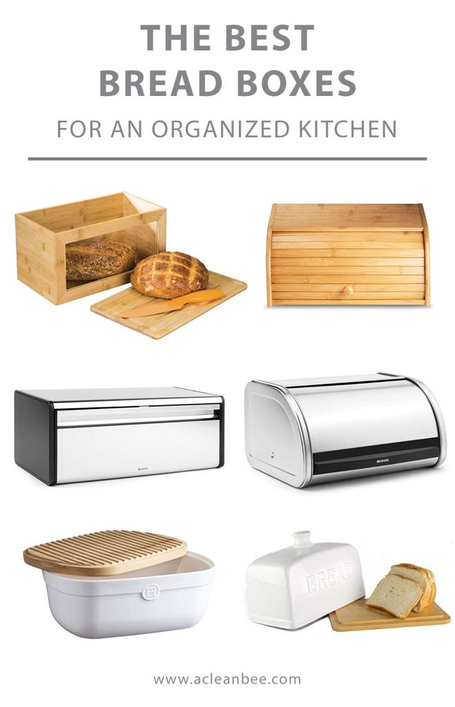 Organize your kitchen with a beautiful bread box. Choose from wooden bread boxes, ceramic, stainless steel, or enamel. Bread boxes are great for storing bread, pastries, bagels, and any other baked goods. Keep your baked goods fresh with a bread box in your kitchen.