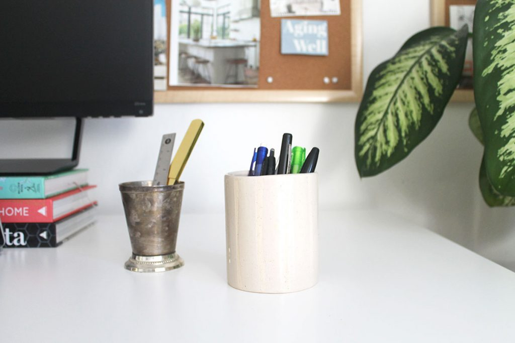 How to repurpose old candle jars in the office
