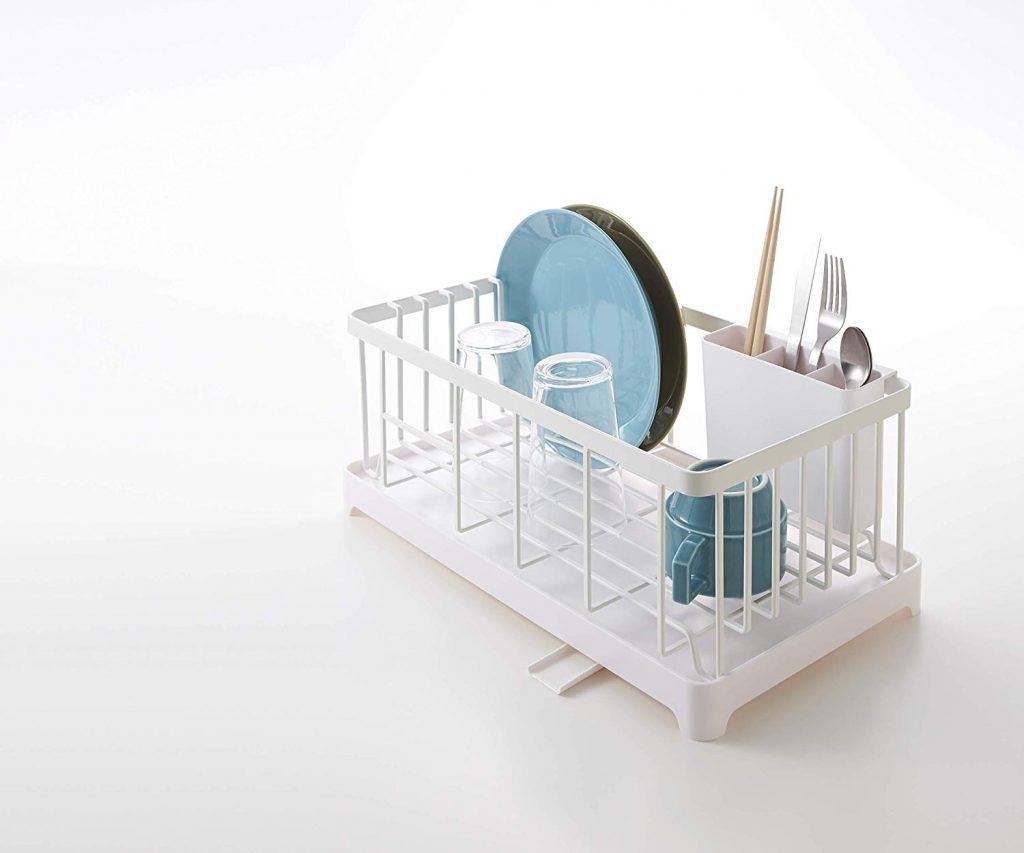Space saving dish rack