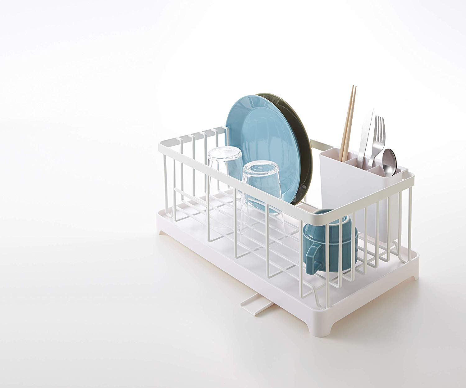 In Sink Dish Drying Rack Small Compact Drainer Tray Kitchen Wire Plate Storage