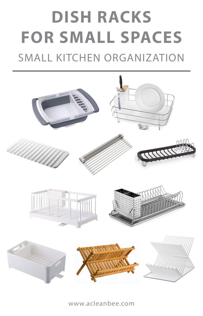 Find the right dish rack for your small kitchen. Don't clutter your small kitchen with a giant dish rack. Wash and dry dishes with a space saving dish rack fit for a tiny home.