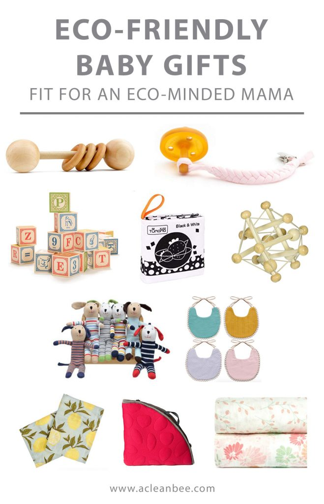 If you are searching for eco-friendly baby gifts for your eco-friendly mama friend, look no further! Select from sustainably made baby toys that are safe for baby and made to last. Baby toys that can be composted or are made from recycled materials.