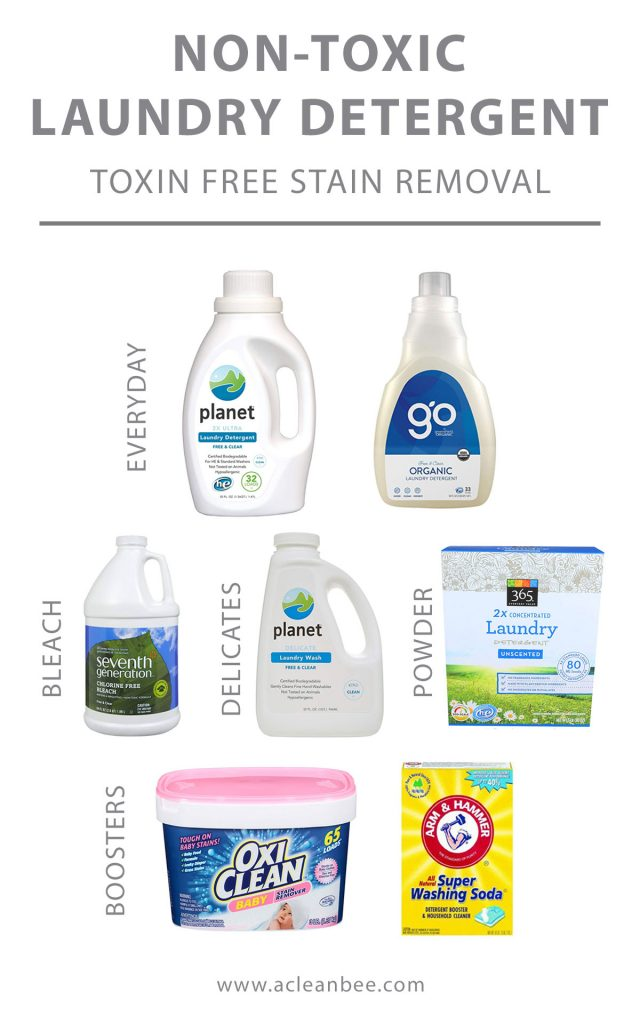 Choose the best non toxic laundry detergent for you and your family. Don't worry about dangerous toxic chemicals in your laundry detergent harming your health or the environment. Choose one of these toxin free laundry detergent options!