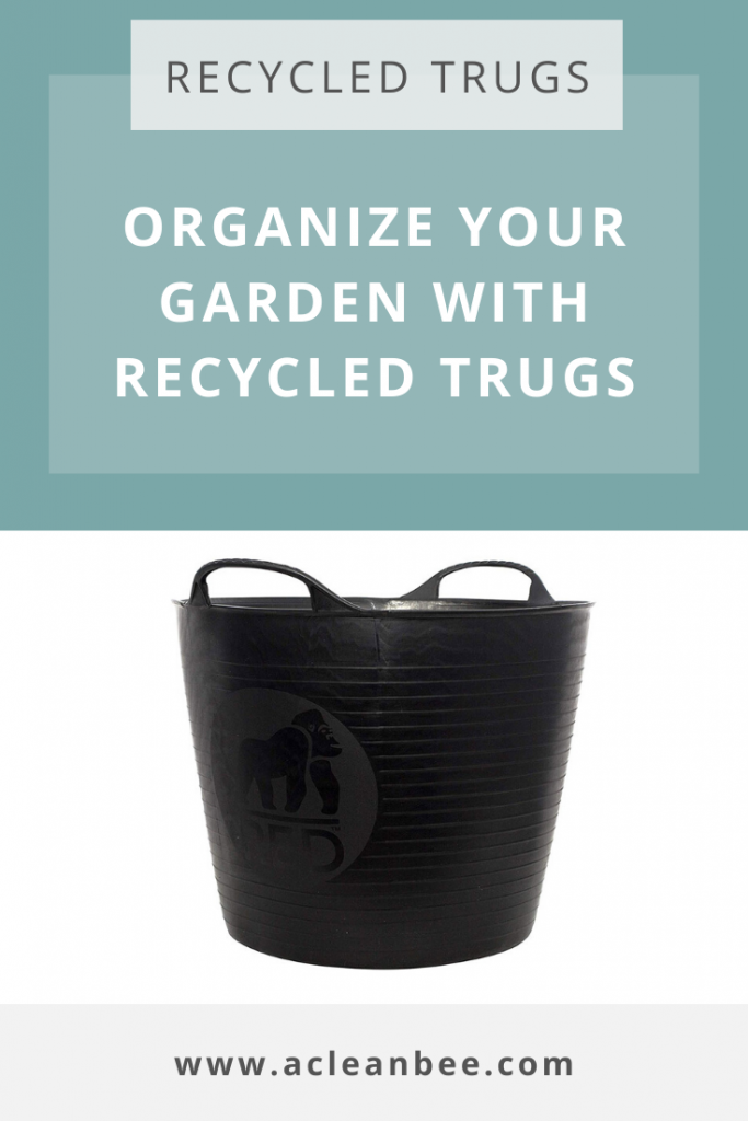 Recycled trugs for organizing your garden