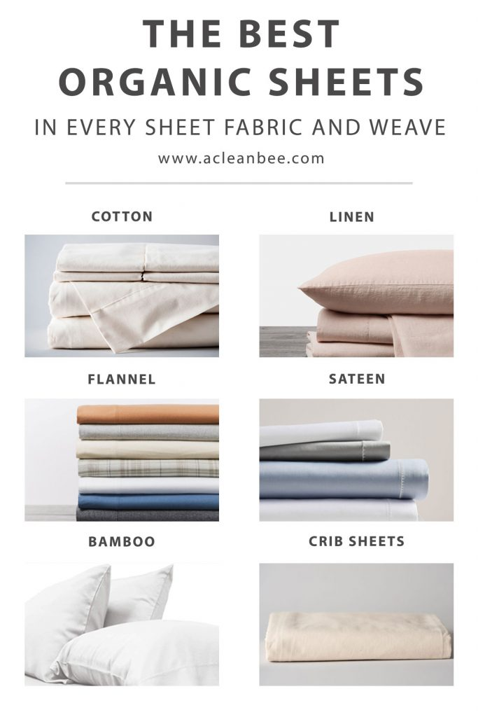 Wondering where to find the best organic sheets for a non-toxic night's sleep? Here are the best options in a multitude of fabrics to choose from.
