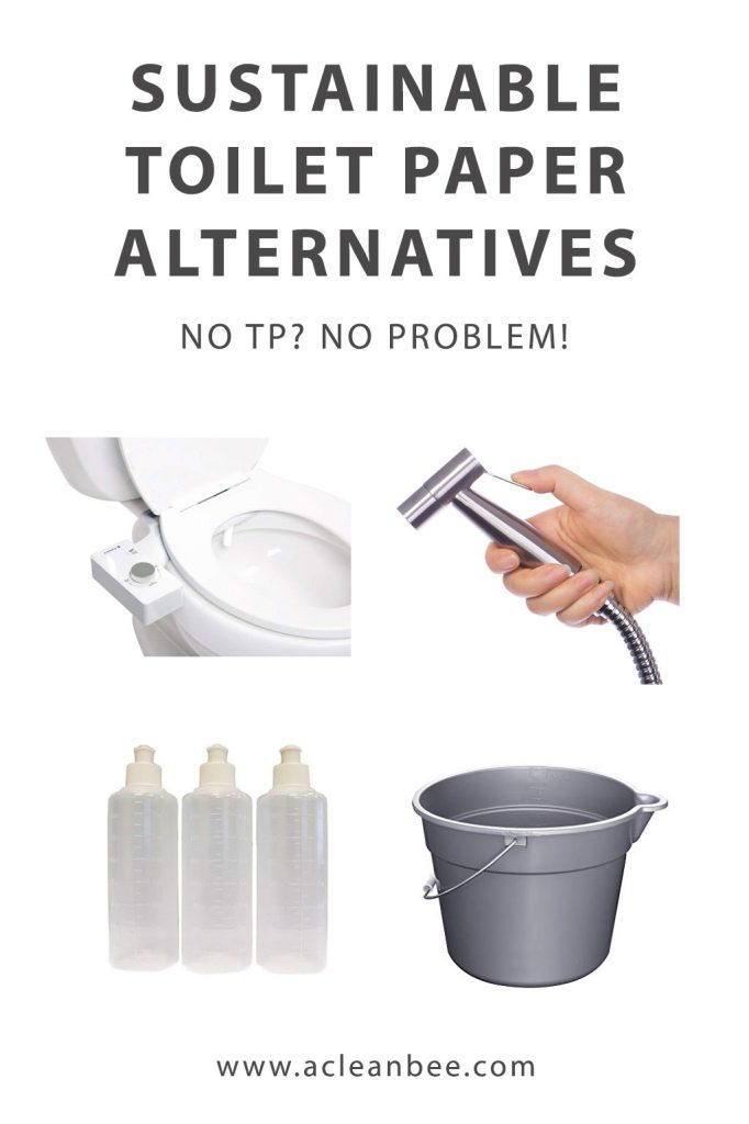 Sustainable toilet paper alternative. No toilet paper? No problem! Here are sustainable alternatives to toilet paper.