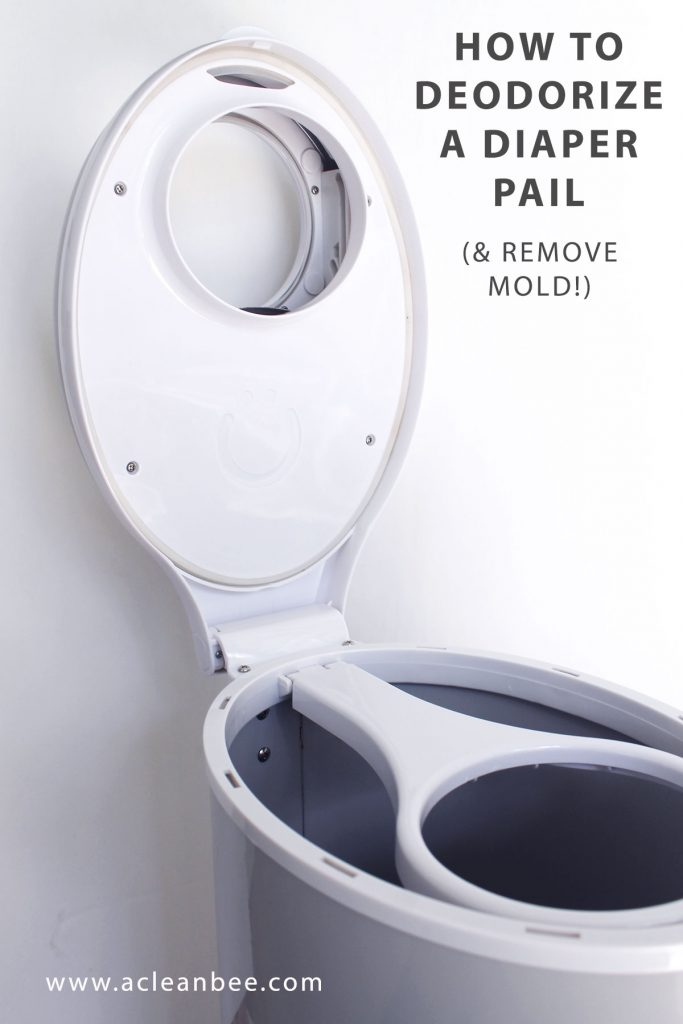 How to clean an Ubbi diaper pail - deodorize and remove mold from a diaper pail