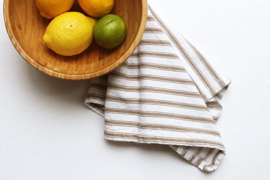 Reusable napkins for a zero waste home.