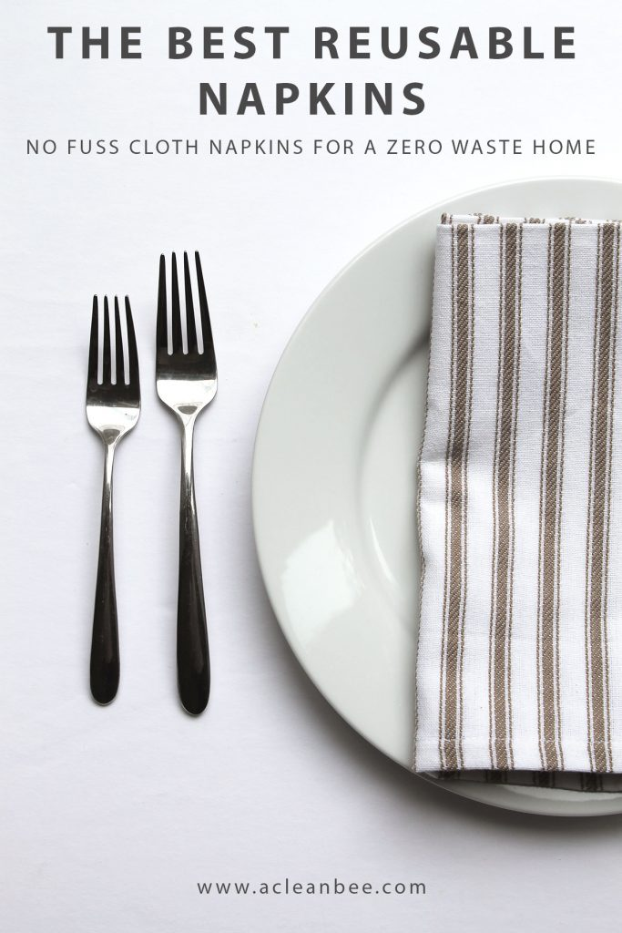 The best reusable napkins for a zero waste home