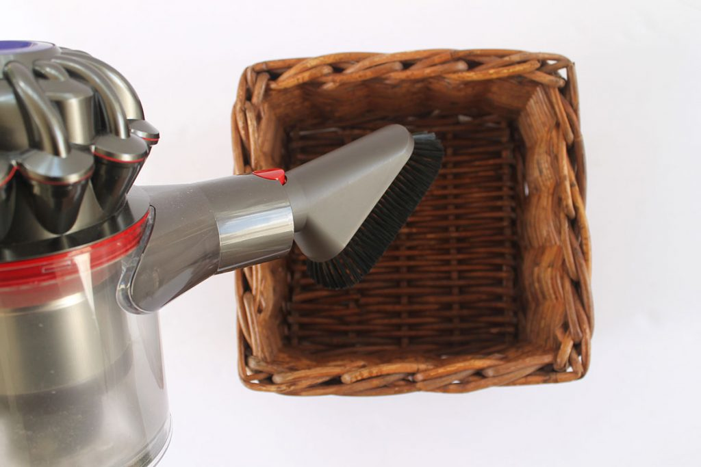 How to clean wicker baskets with a vacuum