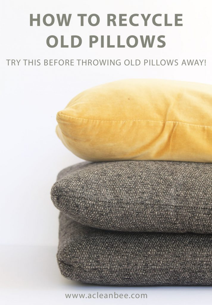 Learn how to recycle or repurpose old pillows! Give pillows new life in your home or donate to local charities.