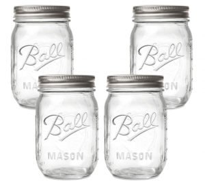Ball Mason canning jar - glass pantry jars