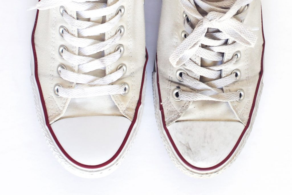 How to clean and whiten converse shoes