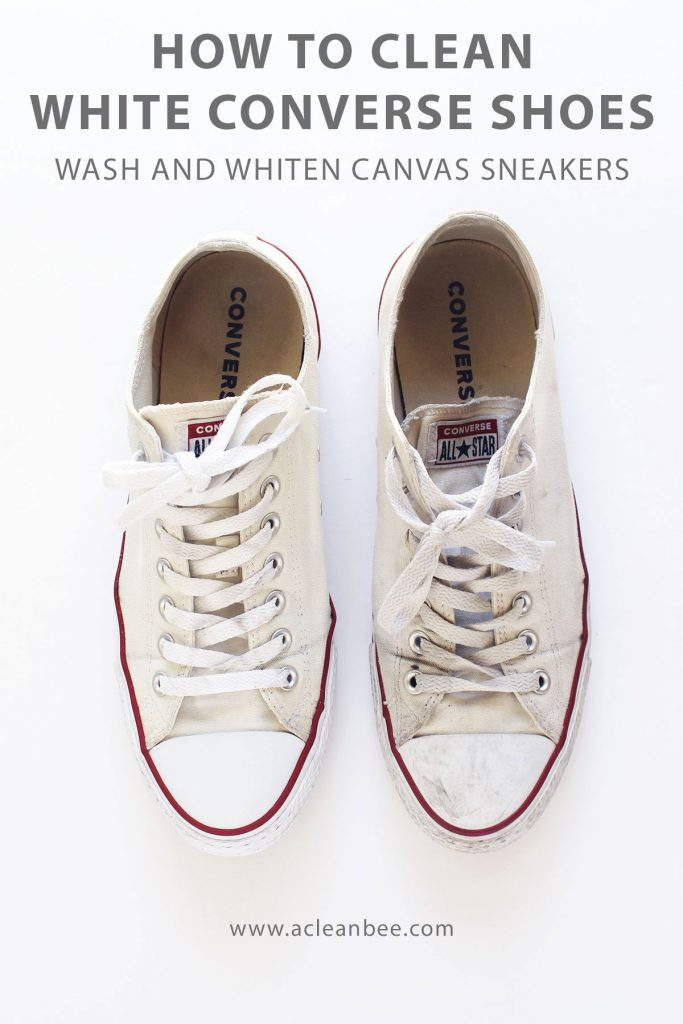How to wash and whiten Converse shoes.