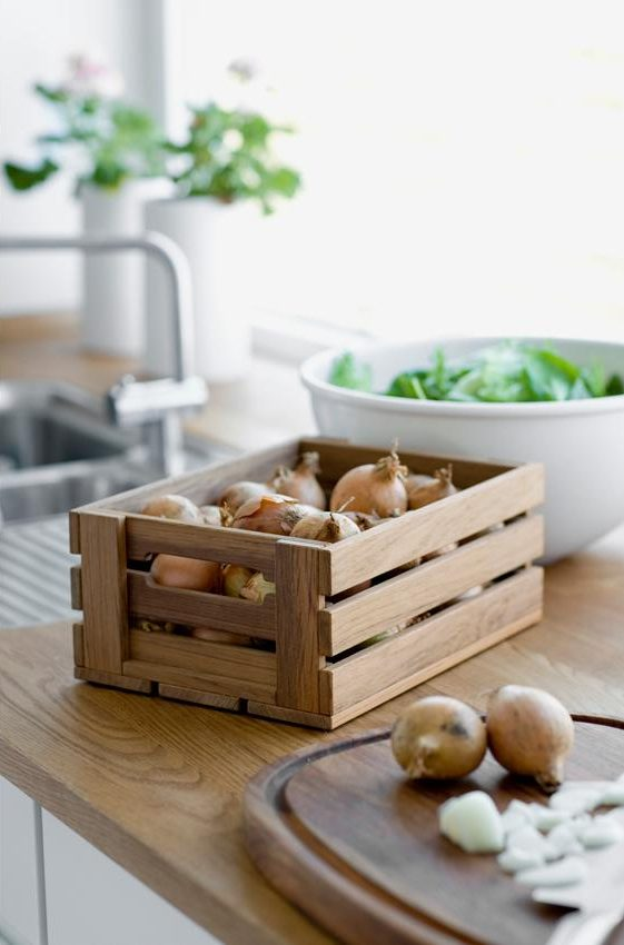 Fruit storage ideas - produce crate