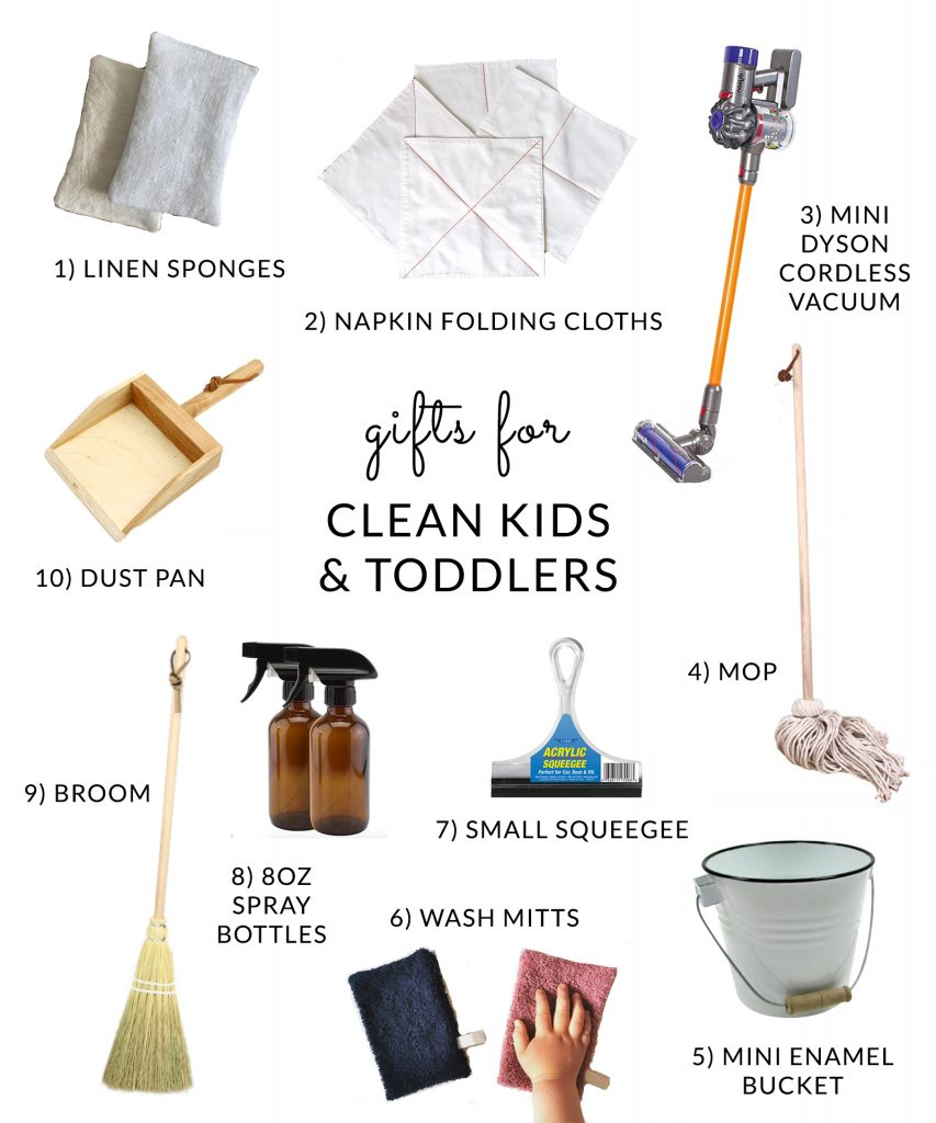 Cleaning supplies for kids and toddlers
