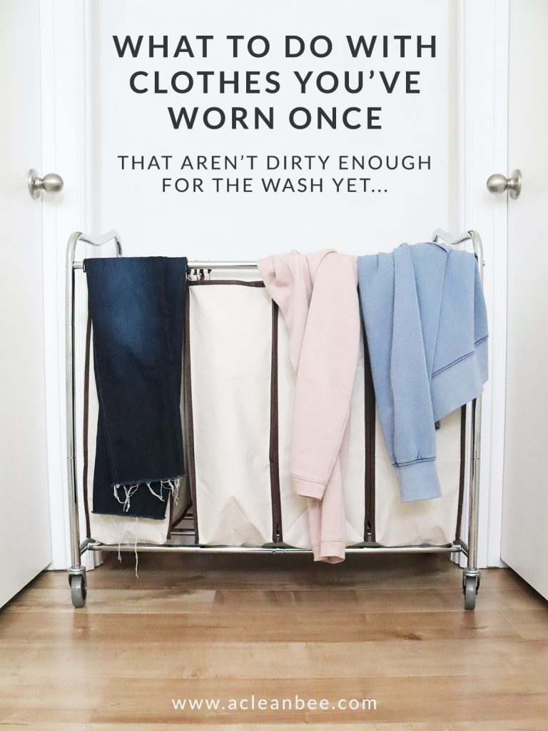 What to do with clothes you've worn once