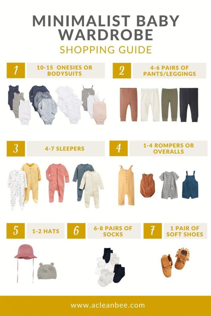 7 essentials for a minimalist baby wardrobe