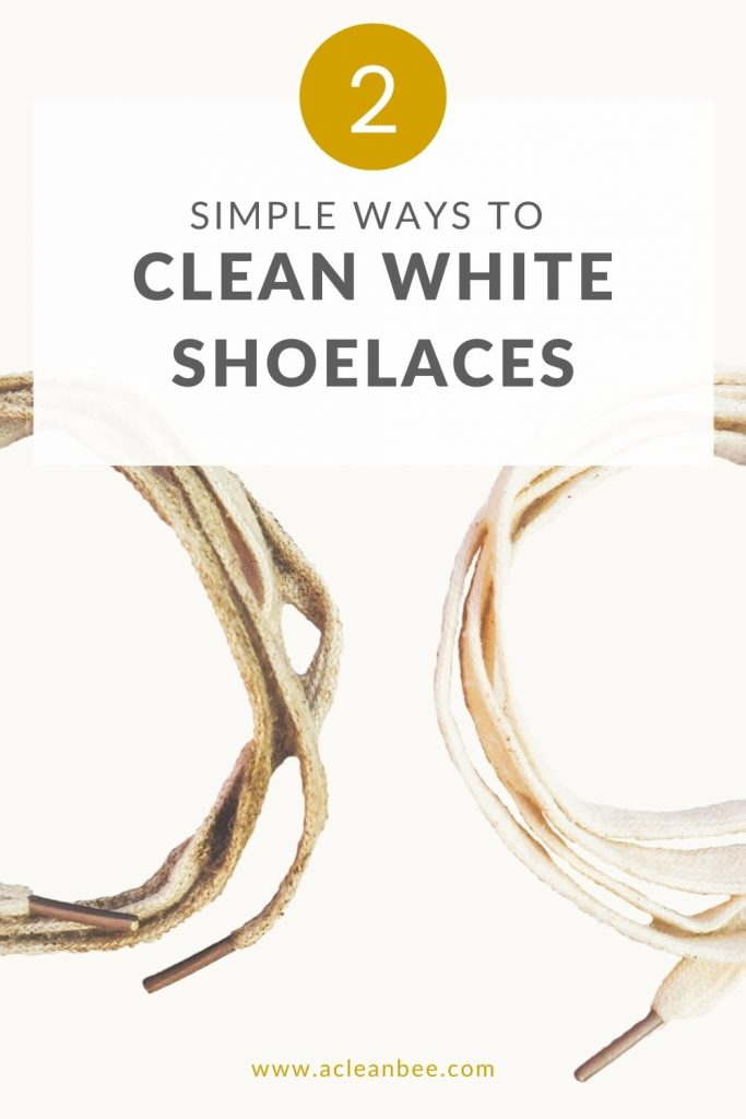 A step by step guide on how to clean white shoelaces fast!