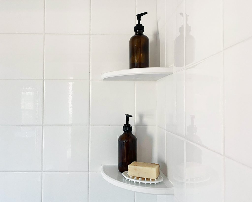 Shower shelf organizers for every style of shower