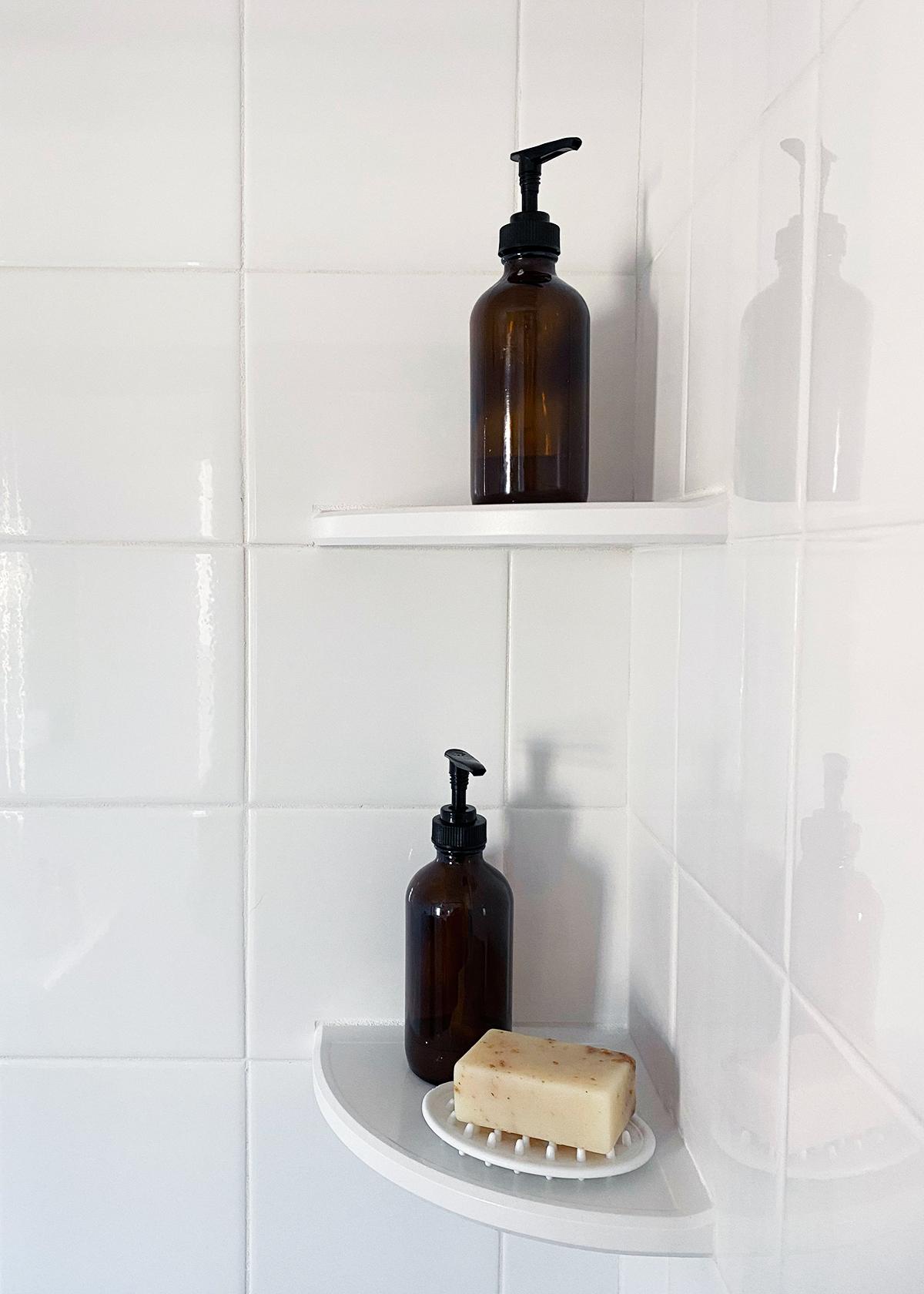 Shower Shelf Solutions for an Organized Shower